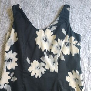 LOFT blue and cream floral dress size 4